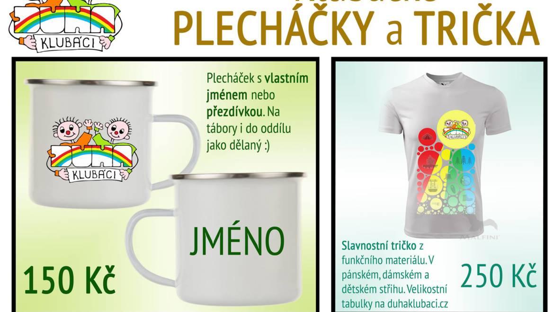Klubácké PLECHÁČKY a TRIČKA!